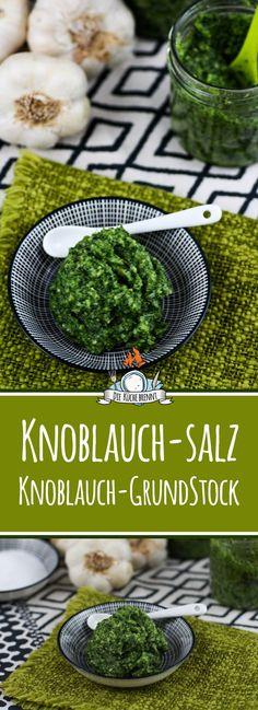 Geschenke aus der Küche - Knoblauch Salz / Knoblauch Stock