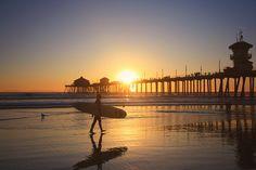 Huntington Beachで撮ったものです。 カリフォルニアでサーフィンしたいですねー!