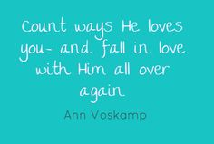 images of quotes  by Ann Voskamp   Fall in Love Again [and the thankfulness connection]   My Day In The ...