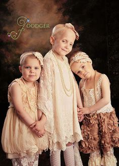 *** PRAYERS PLEASE ...FOR... *** RILEY HUGHEY on the left, is 3 years old, and just beat a form of stage-five kidney cancer. *** RHEANN FRANKLIN, in the middle, is 6, and has been battling brain cancer for a year and a half,. *** AINSLEY PETERS, 4-years-old is in remission from leukemia.