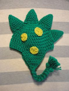 Dinosaur or Dragon Crochet Hat boy or girl by ThisThatandHats, $15.00