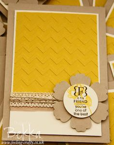 Friendship Cards by Stampin' Up! Demonstrator Bekka Prideaux - find out about the friendships she has made and joining her group of stamping friends here