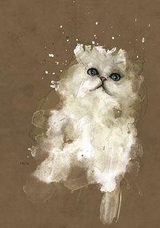 white kitten by neo-innov.deviantart.com