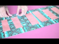Duck Tape Crafts with LaurDIY: How to Make a Duck Tape Roll-Up Pencil Pouch - YouTube