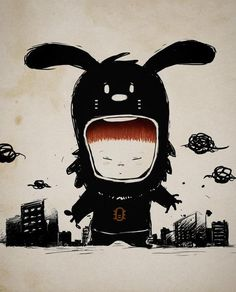 Little Rabbit in Tokyo, I couldn't find the artist via Tumblr
