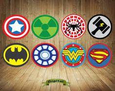 Girl Superhero Logos for Capes Tshirts Superhero Symbols Baby Shower Superhero birthday party Digital Super hero Birthday Party Decorations Superhero Favors, Superhero Symbols, Superhero Birthday Party, Party Props, Party Signs, Make Your Own Superhero, Character Symbols, Paper Games, Label Paper