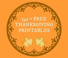Here's a list of Over 345 Free Thanksgiving Printables that you can download. There are everything from Worksheets for Kids to Teachers Printables and Craft Ideas for Kids! There are even some great adorable Printables you can print out and frame to use around your house as Cheap Fall Decorating Ideas! #freeprintables #thanksgiving