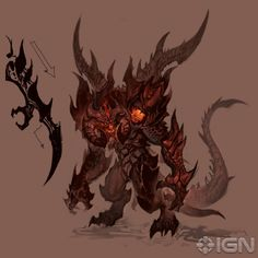 Satan armored demons