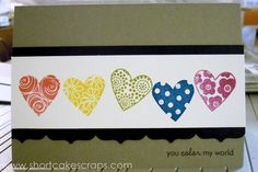 you color my world greeting card ::  http://shortcakescraps.storenvy.com/products/237617-you-color-my-world
