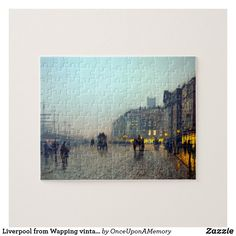 Liverpool from Wapping vintage painting Jigsaw Puzzle