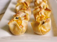 Crab and Cheddar Won Ton Purses Appetizer Easy Recipe - Delicious Bite Sized Crowd-Pleasers to set out for family get togethers