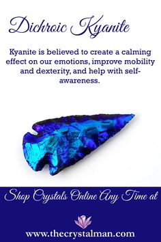 Calming-Mobility-Dexterity-Self Awareness Thousands of crystals online all the time at The Crystal Man! Crystal Uses, Crystal Healing Stones, Stones And Crystals, Minerals And Gemstones, Crystals Minerals, Rocks And Minerals, Wholesale Crystals, Meditation Crystals, Crystal Meanings