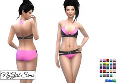 Color Block Belted Bikini at NyGirl Sims