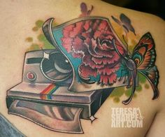Teresa Sharpe. Polaroid Camera Photography Tattoo