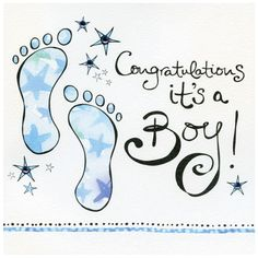 CONGRATULATIONS ITS A BOY | Gallery Collection Congratulations It's A Boy S001