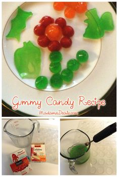 Easy Candy Recipes for Kids: Gummy Candy Recipe Easy Gummy Candy Recipe, Easy Candy Recipes, Kid Recipes, Snack Recipes, Summer Recipes, Delicious Recipes, Candy Cakes, Homemade Candies, Homemade Gummies