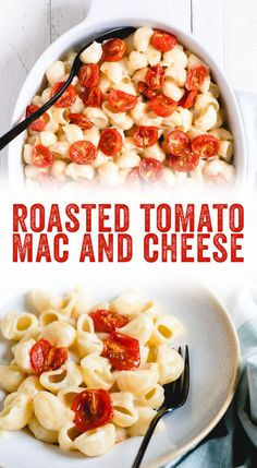 This homemade white cheddar mac and cheese with tomatoes is comfort food at its finest, featuring a silky cheese sauce and blistered cherry tomatoes. Cheddar Mac And Cheese, Mac And Cheese Homemade, White Cheddar, Macaroni And Cheese, Cherry Tomato Pasta, Roasted Cherry Tomatoes, Dutch Oven Recipes, Cheese Sauce, Lunches And Dinners