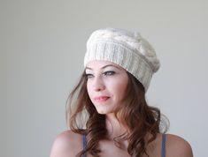 Artículos similares a Please CONTACT To Restock!!! Women crochet beanie  with flower 0b8d3b2d062