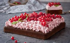 A berry good chocolate cake – moist, rich, delicious and easier than it looks.