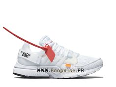competitive price 9f288 bd207 Nouveau 2018 Off-White x Nike Air Presto Chaussure de BasketBall Pas Cher Homme  Blanc
