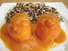 Rollitos de lenguado en salsa de gambas