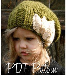 Knitting PATTERNThe Setiya Slouchy Toddler Child por Thevelvetacorn