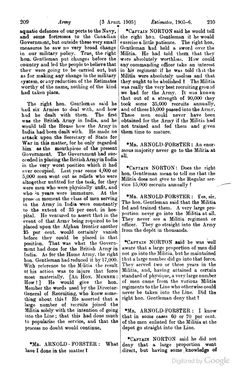 1905 - Role of the Militia in providing recruits for the Regular Army