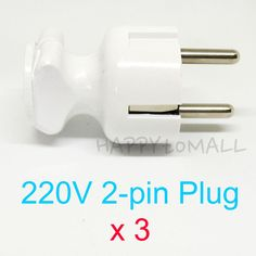 X3- 2Pin AC Power Plug Adapter Socket Outlet for Wires Connecting EU 220V Repair #HYUNDAI