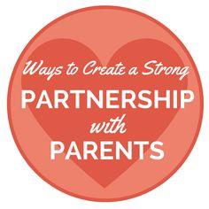 6 Ways to Create a Strong Partnership Between Parents and Teachers - Teacher Approved #newteachers #backtoschool
