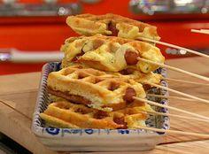 Jalapeno popper hot dog waffle