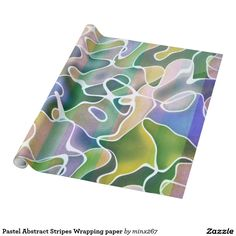 Pastel Abstract Stripes Wrapping paper