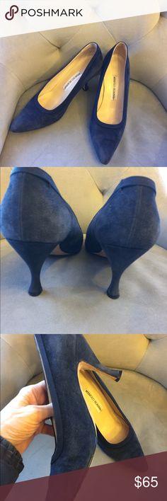 I just added this listing on Poshmark: Manolo Blahnik Authentic Navy Suede Pumps -. #shopmycloset #poshmark #fashion #shopping #style #forsale #Manolo Blahnik #Shoes