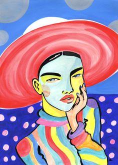 Girl In The Big Red Hat - Lynnie Zulu