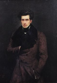 Portrait of Armand Carrel, 1800-36 by Ary Scheffer (1795-1858) Scheffer is probably best known for his painting 'The Ghosts of Paolo and Francesca appear to Dante and Virgil' of 1835, which can be seen today at The Wallace Collection, London - well worth a visit.