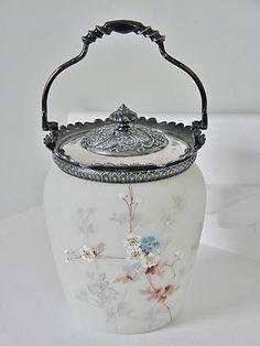 ~ Antique Monroe Wave Crest Biscuit Jar, Barrel ~
