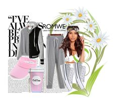 """""""Romwe 9"""" by dinka1-749 ❤ liked on Polyvore featuring Missguided, Converse and LE3NO"""
