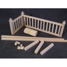 "Railing Kit #2 Stairs dollhouse balcony guard 12""  1/12 scale miniature MW12082"