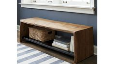 Yukon Entryway Bench with Shelf | For my someday mountain cottage