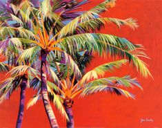 65 Ideas For Palm Tree Painting Acrylic Tropical Palm Tree Drawing, Palm Tree Art, Palm Trees, Beach Drawing, Pine Tattoo, Palm Tree Pictures, Palmiers, Tropical Art, Tropical Forest