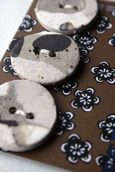 Natural buttons  unique handmade ceramic buttons  by jolucksted, £4.50