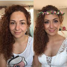 Maquillaje novia .antes y después .sin filtros #bridalmakeup