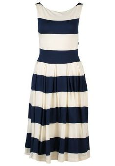 Gant Dress Jersy   Jerseykleid    White-Blue-Stripes - Weiß-Blau-Blockstreifen