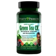 Green Tea CR (Green Tea   Curcumin   Resveratrol) - 60 Vegetarian Capsules - 30 Day Supply - from Purity Products *** Learn more by visiting the image link.
