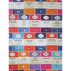 Buy Osborne & Little Penguin Books Library Wallpaper Online at johnlewis.com - this is AMAZING [just need the house for it to go in now!] - £65.00 per roll