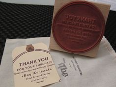 """I ordered this really awesome and eco friendly """"business card"""" rubber stamp from Mae Mae Paperie - it's for my ebay store!"""