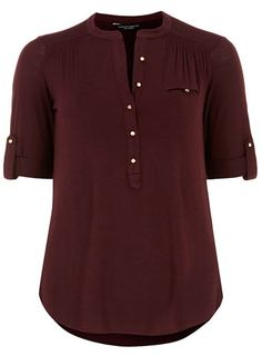 Plum jersey roll sleeve shirt - Party Tops  - Party