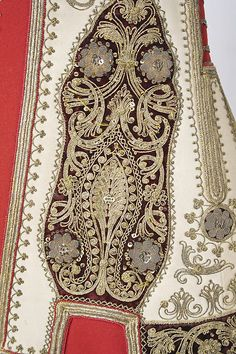 Close-up of the embroideries on a sleeveless 'pirpiri'-like coat for women. From northern Greece, ca. (Met Museum, N.