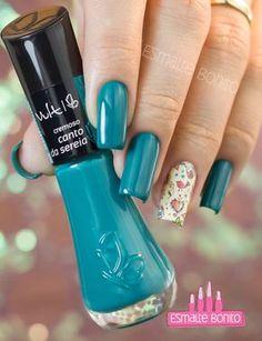 Esmalte Canto da Sereia Vult Love Nails, Pretty Nails, My Nails, Nail Ring, Manicure And Pedicure, Finger, Perfect Nails, Nail Arts, Nails Inspiration