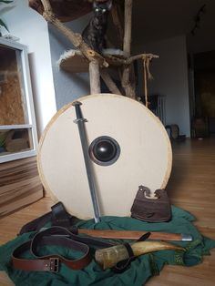 Viking equipment (and cat)