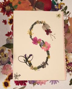 Personalized Pressed Flower Monogram by prettypressedpetals, $6.25